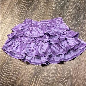 Tie dye tiered skirt